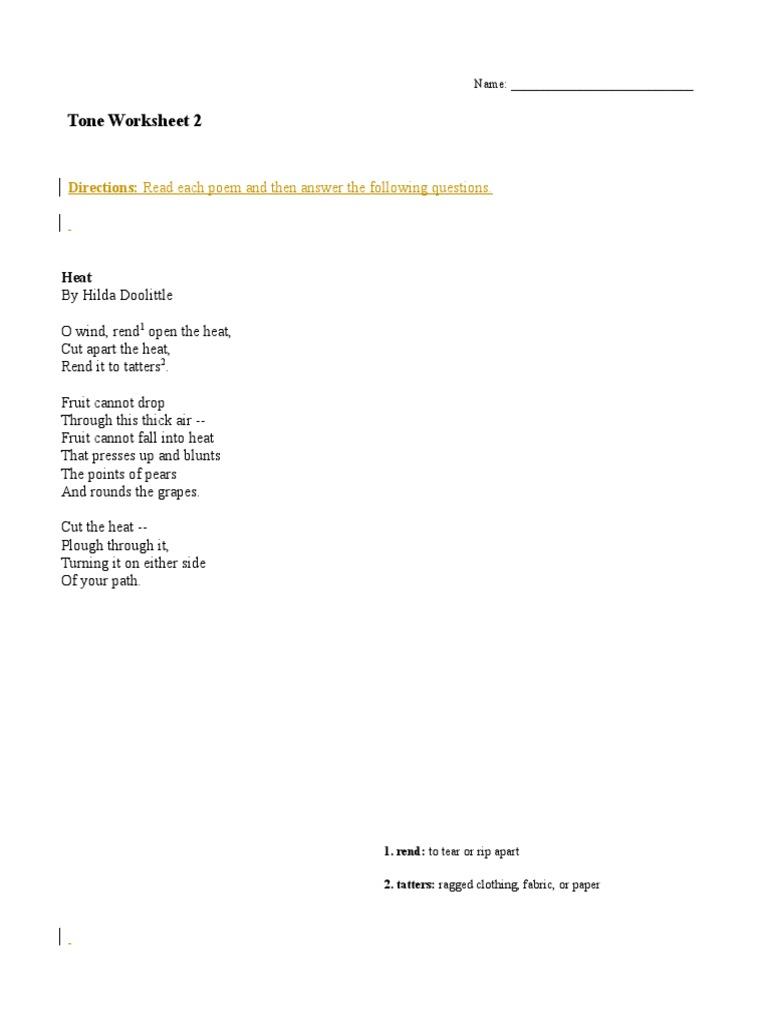 Tone Worksheet 02