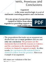 2. Arguments Premises and Conclusions