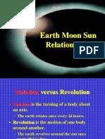 1. Relative motion of Earth, Moon, Sun