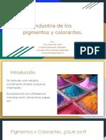 Industria de Los Pigmentos y Colorantes