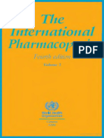 International Pharmacopoeia 3rd Ed Vol 1 & 2