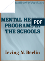 Mental Health Programs in the Schools