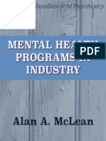 Mental Health Programs in Industry
