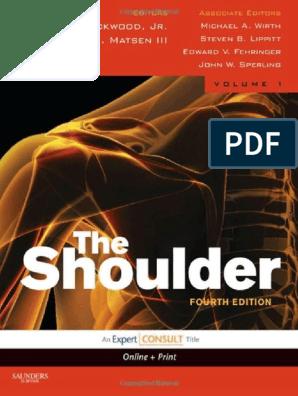 Rockwood and Matsen s the Shoulder 4th Edition   Orthopedic