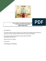 Votive Shrine Census Form