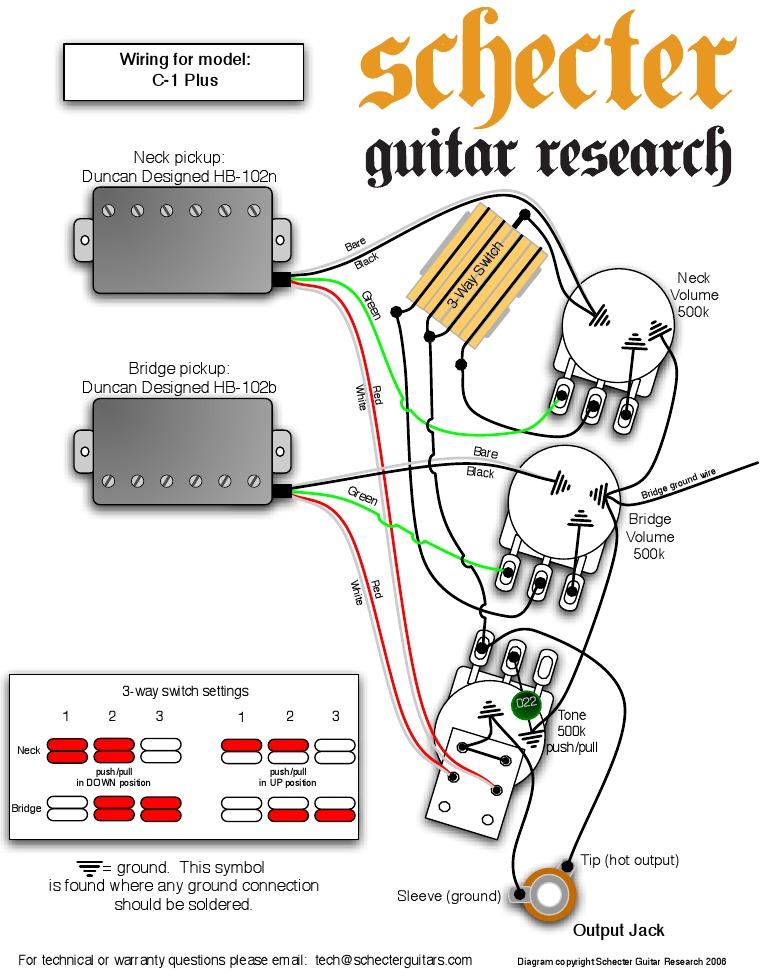 Schecter Humbucker Wiring Diagram | Wiring Diagram on
