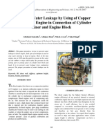 To Prevent Water Leakage by Using of Copper Ring in Diesel Engine in Connection of Cylinder Liner and Engine Block