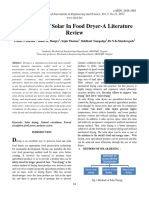 Application of Solar in Food Dryer-A Literature Review