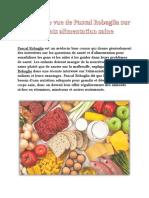 Pascal Robaglia Kids Alimentation Saine