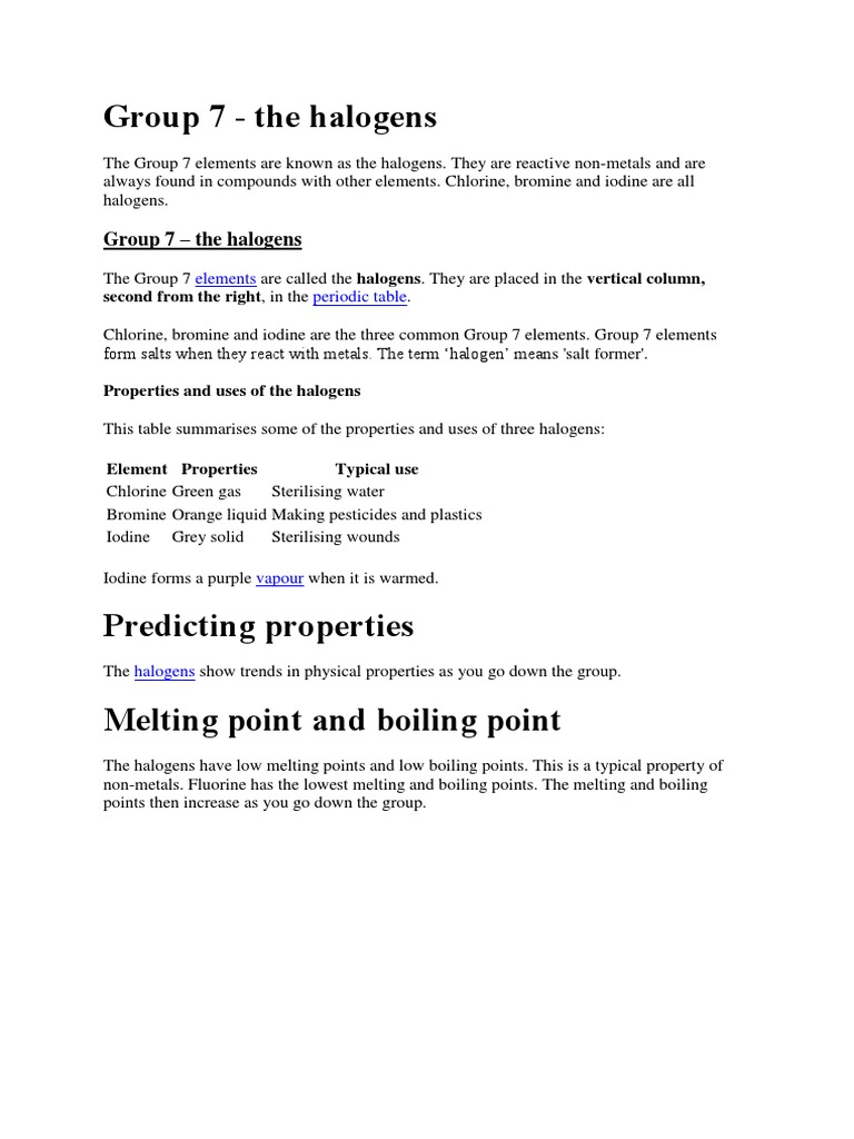 5group 7 the halogens chlorine iodine urtaz Gallery