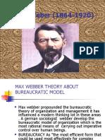 Max Webber Theory