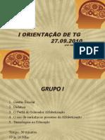 I  ORIENTAÇÃO DE TG