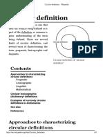 Circular Definition