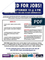 United for Jobs Event Flier