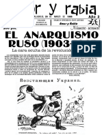 """Revista Amor y Rabia Nr. 5 """"El anarquismo ruso (1903-1921)"""""""