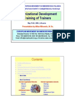 Organizational Development Training of Trainers - Mr. Milan Milosevic presentation