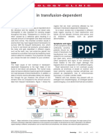 Iron Overload in Transfusion-Dependent