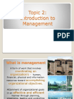 Topic 2 Introduction to Management