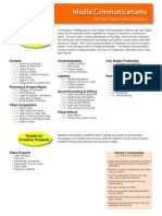 DMAWW Course Outline - Media Communications
