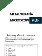 Metalografía microscópica