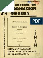 Carta a un camarada sobre las tareas de organizacion - V Lenin.pdf