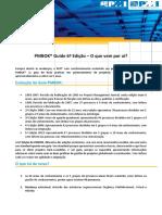 Novidades Do PMBOK Guide 6 Ed