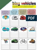 Describing Vehicles Adjectives