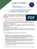 Eligibility Criteria GenSurg 2016