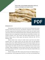 Pemanfaatan Ampas Tebu Untuk Proses Pemurnian Minyak Jelantah Dalam Pembuatan Sabun Padat