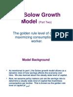 Macro4 Solow Growth Model 2 Golden Rule