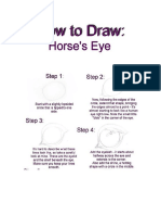 How to Draw Horse's Eye Ok