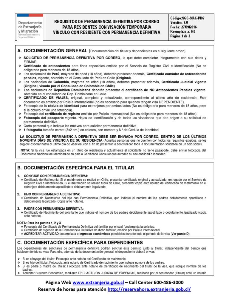 PD6 Vínculo Permanencia Definitiva