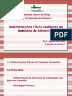 Determinações Físico-Químicas Nos Alimentos