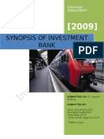 Strategic Analysis of Investment Banking In india