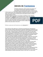 BULA TREMBOLONA EM PDF - EFEITOS COLATERAIS E RECOMENDAÇÕES