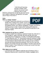 introduction letter  1st grade