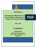 Mis Portal Guidelines Iti