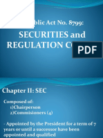 RA 8799 Securities and Regulation Code