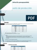 presupuesto de produccion