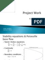 Poiseuille flow-hydrodynamic stability analysis