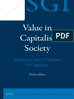 Cobben - Value in Capitalist Society