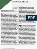 THE SECRET LIFE OF DONALD H. MENZEL by Stanton T. Friedman