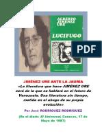 Jiménez Ure Ante La Jauría (Por José Sant Roz)