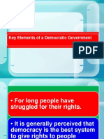 Key Elements of a Democratic Government  part