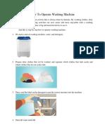 How to Operate Washing Machine - Suci Anggraini
