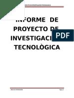 Proyecto de Investigacion Tecnologica Coinbiser Srl.