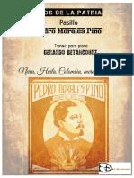 LEJOS DE LA PATRIA. Pasillo por Pedro Morales Pino. Transc. para piano Gerardo Betancourt.