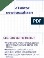 Faktor - Faktor wirausaha