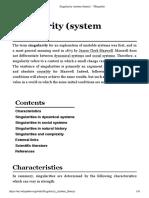 Singularity (System Theory)