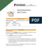 Orientacion Del Curso- Control i 2017-1